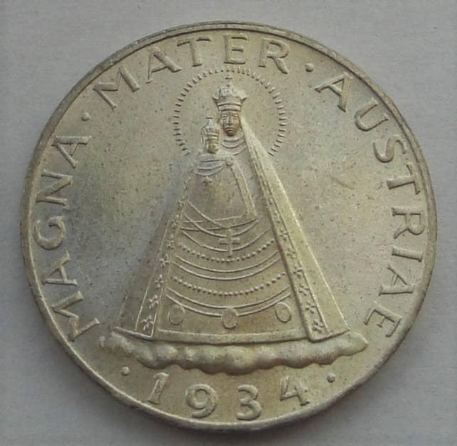 1 Republik 5 Schilling 1934 12525 Gr Feinsilber Qualität Fast